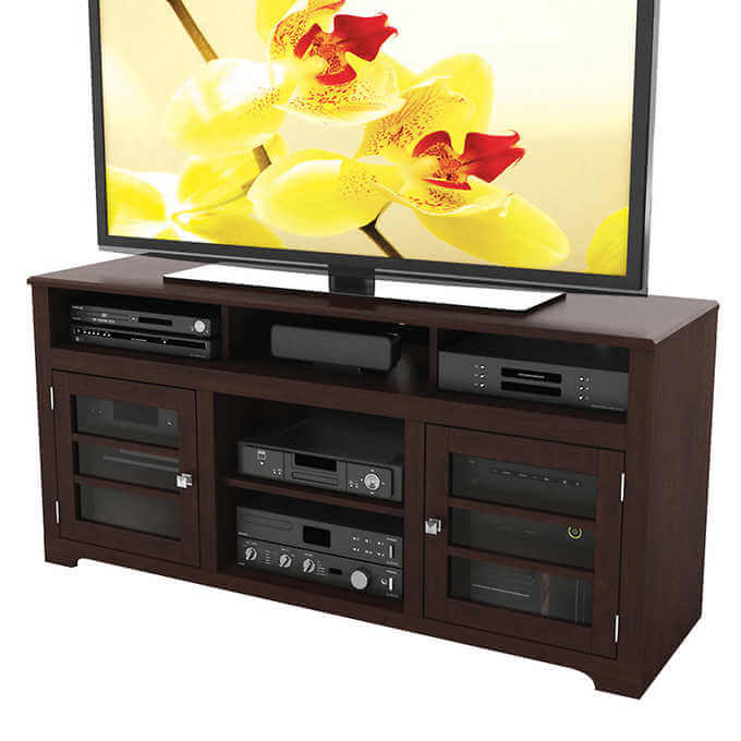 Mink brown 60 inch television stand la source des aubaines for Liquidation meuble gatineau