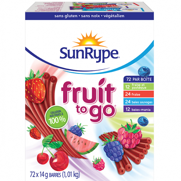 Fruit to Go 72 barres 12,99$