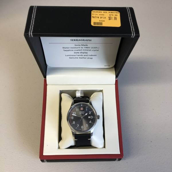 Montre homme Wenger Swiss Military 6420 51,99$
