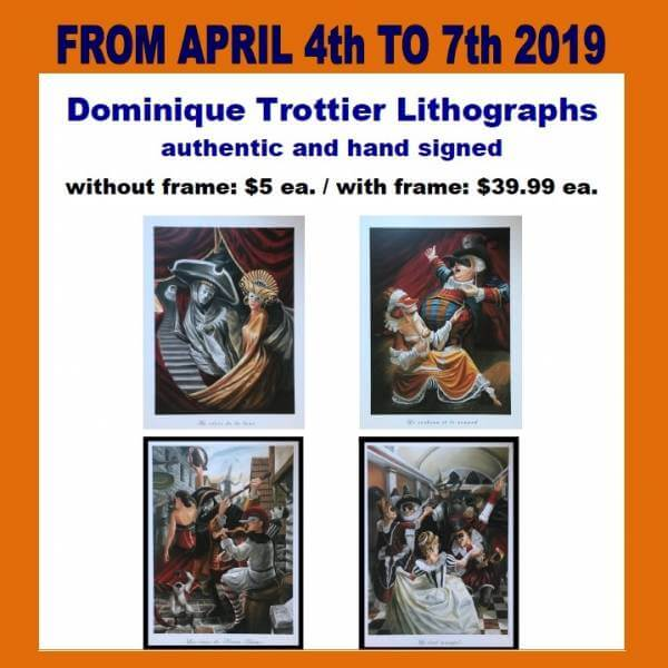 2019-04-04 – 4 au 7 avril – Lithographies Dominique Trottier – Magasins ANG SDA
